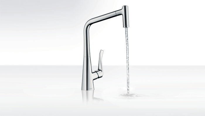the european centre metris 2 spray high arc kitchen faucet pull out 2014. Black Bedroom Furniture Sets. Home Design Ideas